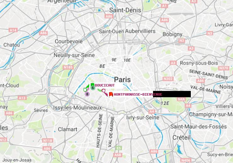 Métro Paris Itinéraire De Boucicaut à Montparnasse Bienvenue