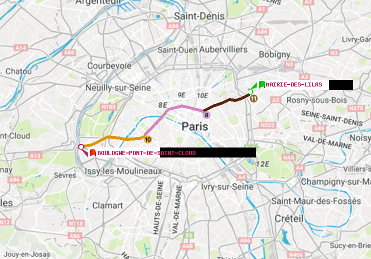 M 233 Tro Paris Itin 233 Raire De Mairie Des Lilas 224 Boulogne Pont De Saint Cloud