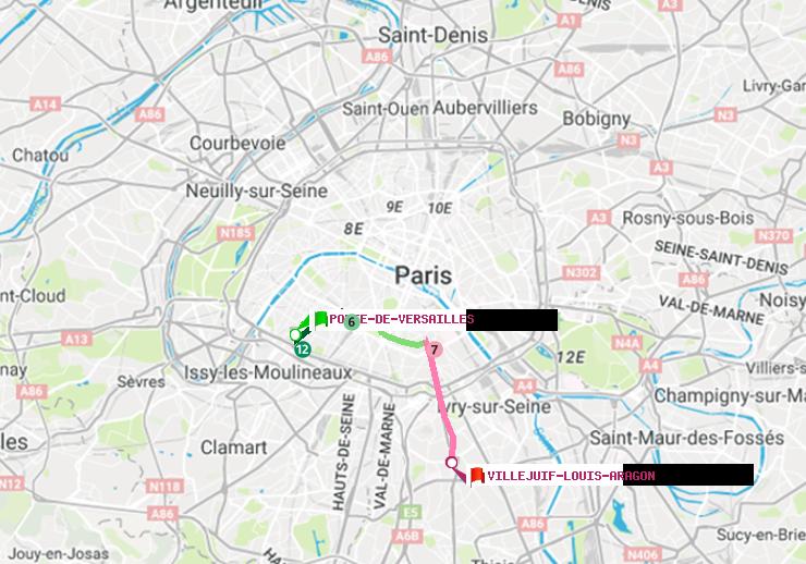 M Tro Paris Itin Raire De Porte De Versailles