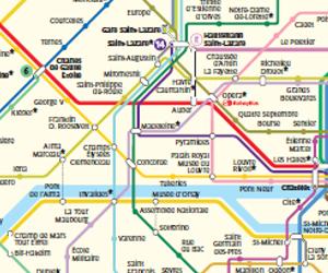 Métro de Paris : plan, carte et itinéraire